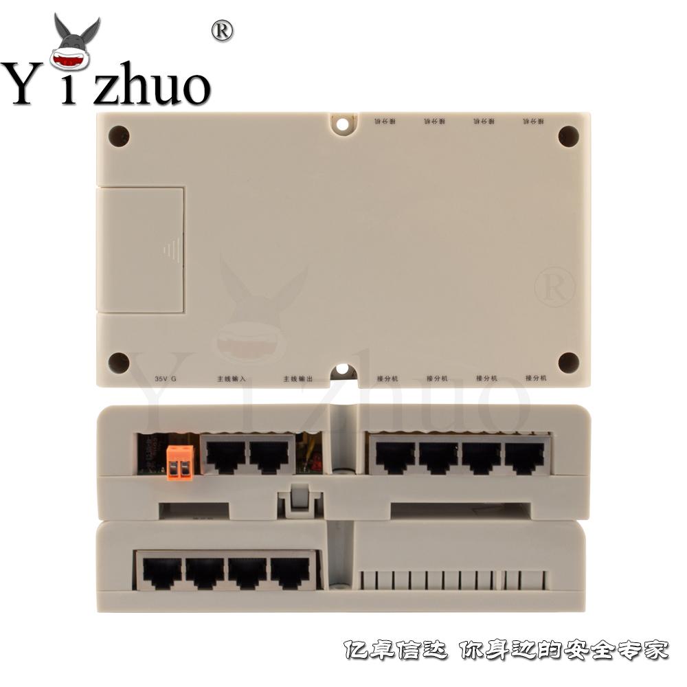 公共连接 层间平台 8户平台 楼宇对讲系统 层间平台 可视解码器 8户型